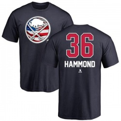 Youth Andrew Hammond Buffalo Sabres Name and Number Banner Wave T-Shirt - Navy