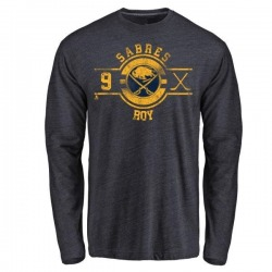 Youth Derek Roy Buffalo Sabres Insignia Tri-Blend Long Sleeve T-Shirt - Navy